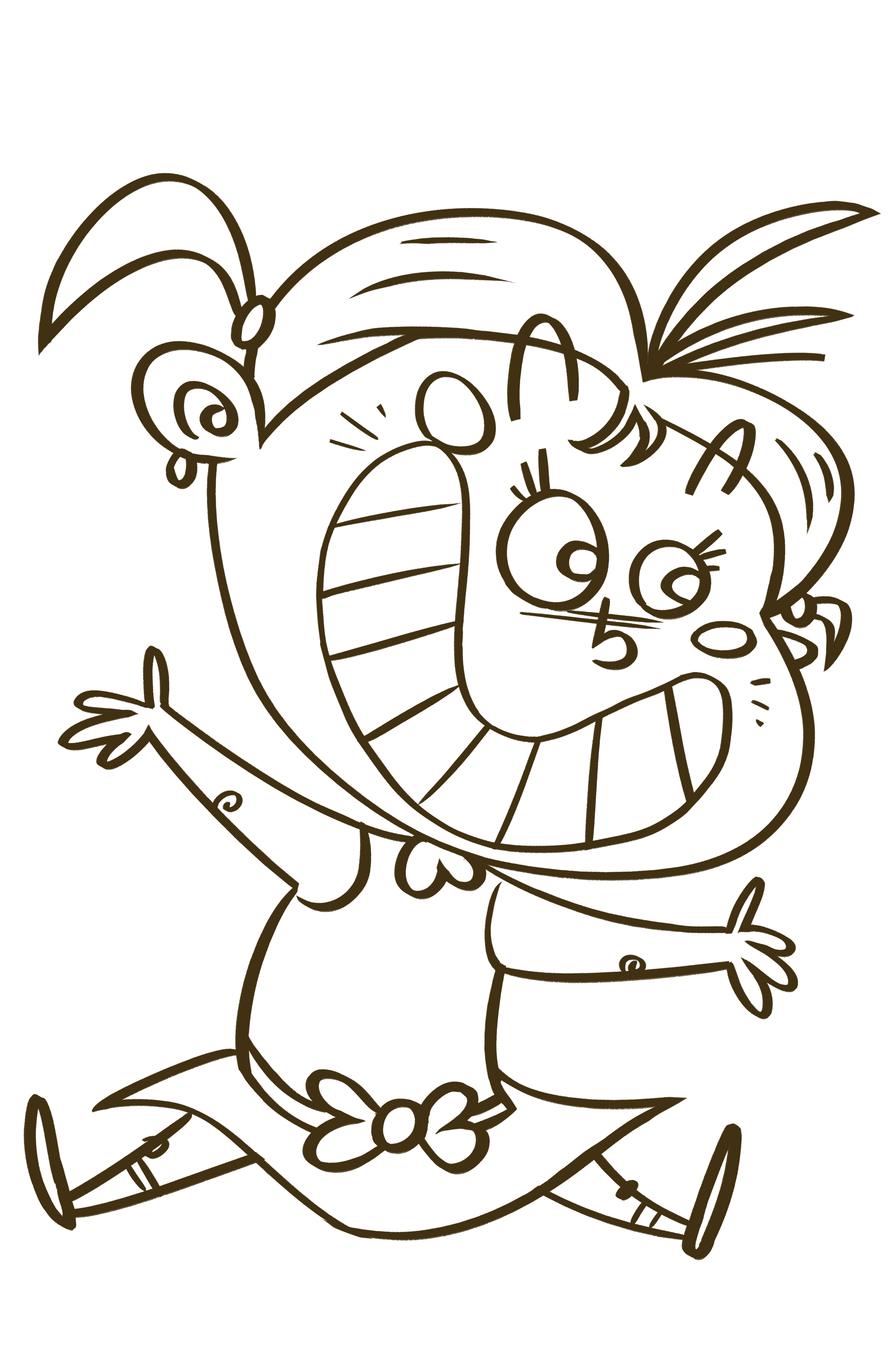Line Drawing Little Girl : Happy drawing the artwork of john trabbic iii